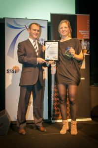 Tina Schroeder acccepting her award