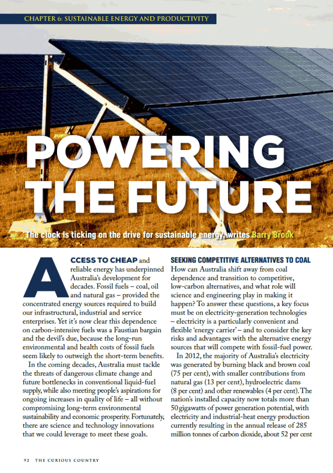 """Powering the Future"" by Barry Brook"