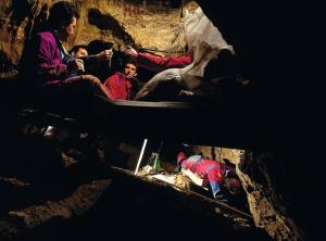 At the Sima de los Huesos. Credit: Science Mag/JAVIER TRUEBA/MADRID SCIENTIFIC FILMS